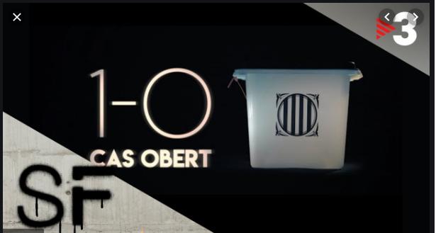 Careta del documental '1-0. caso abierto' emitido por TV3 el 14 de oct