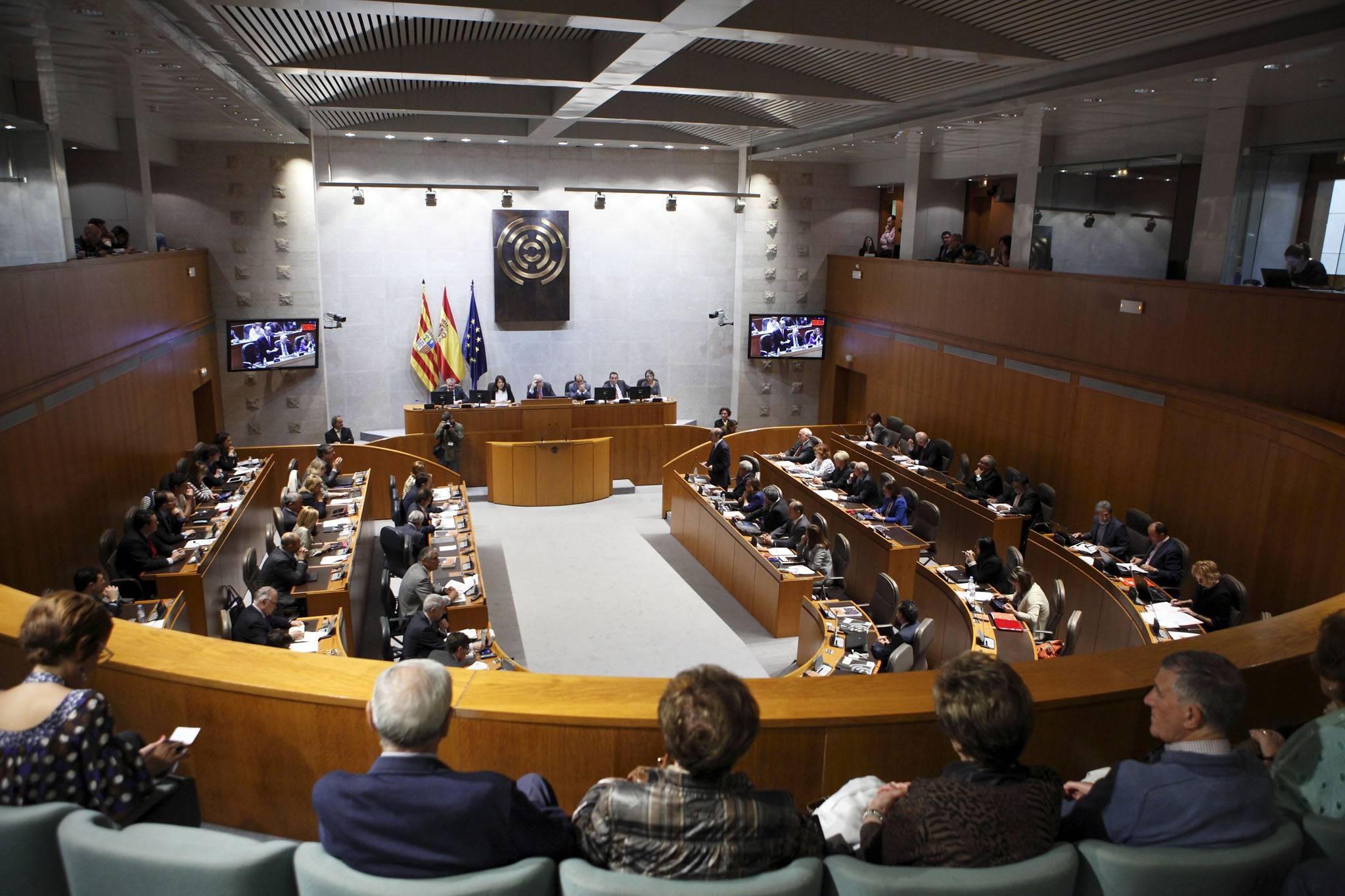Sessió plenària de les Corts de l'Aragó