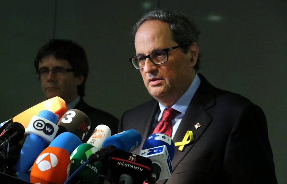 Carles Puigdemont amb el president Quim Torra