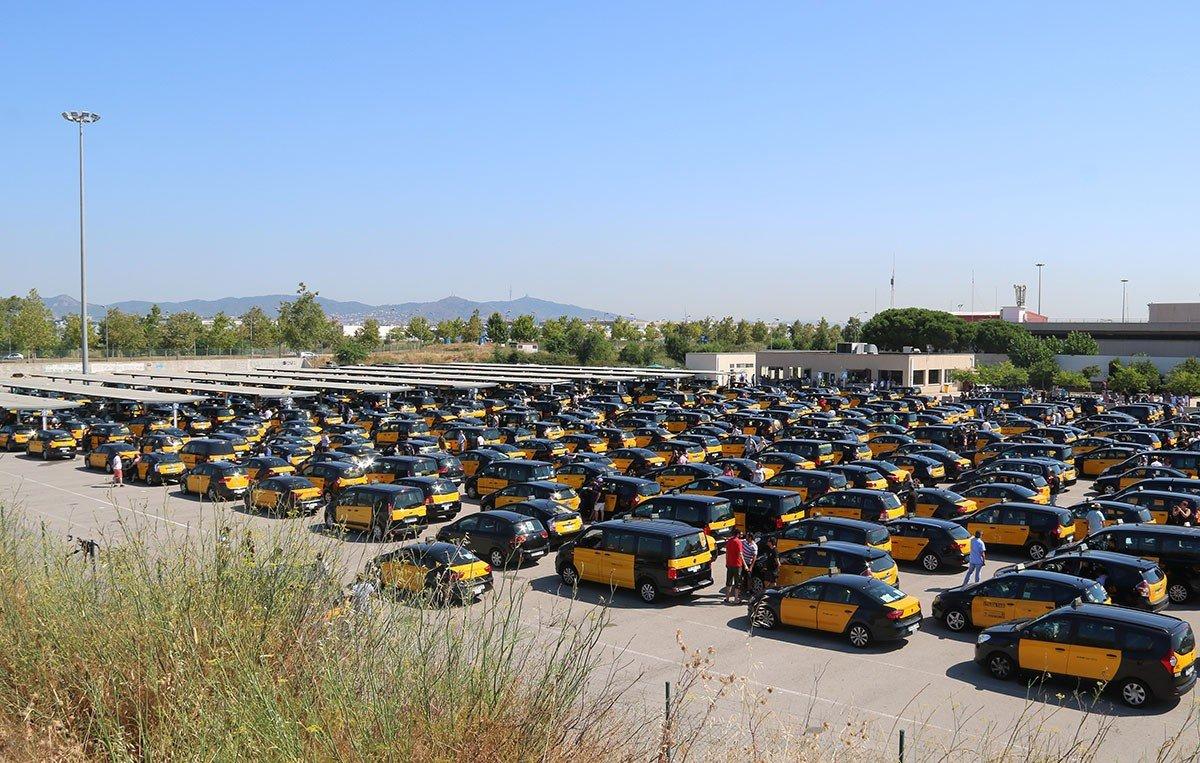 Huelga taxistas