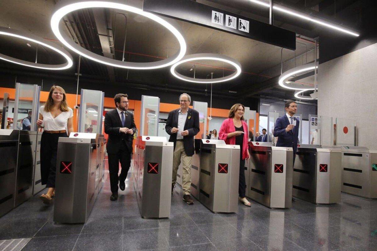 Inauguración de la línea 10 Sur del metro de Barcelona