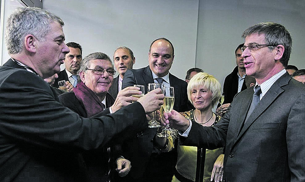 Josep Contreras, segon per l'esquerra, era l'home de Villar a Barc