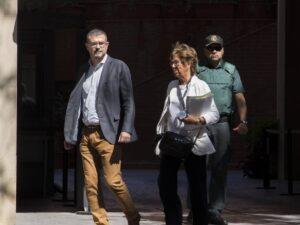 Jaume Clotet després de l'interrogatori de la Guàrdia Civil
