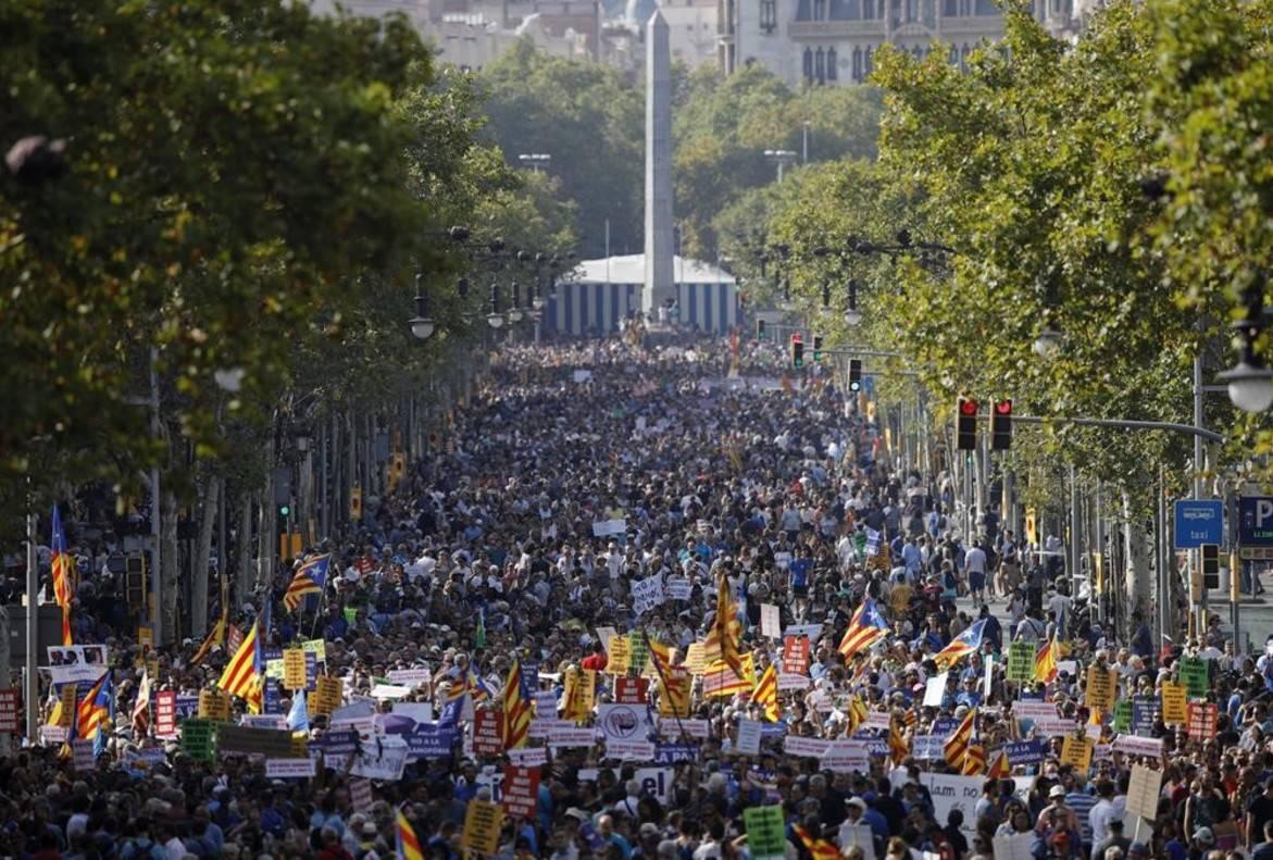 Manifestació atemptat 17-A