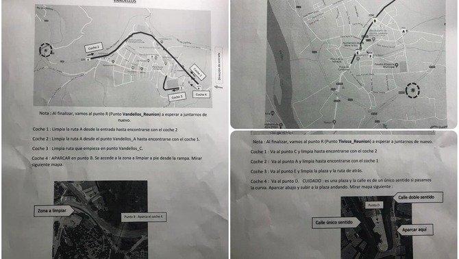 Los mapas con instrucciones contra los lazos amarillos