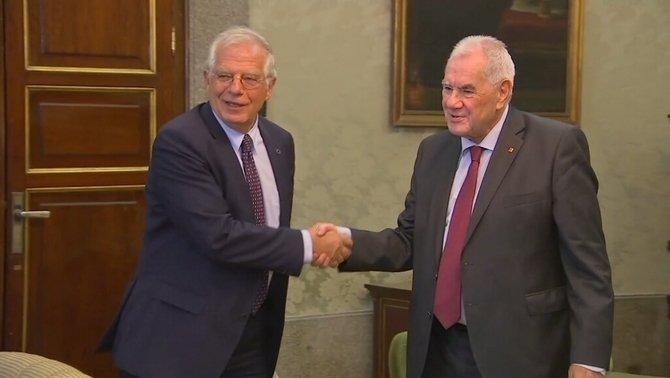 Reunió de Josep Borrell amb Ernest Maragall