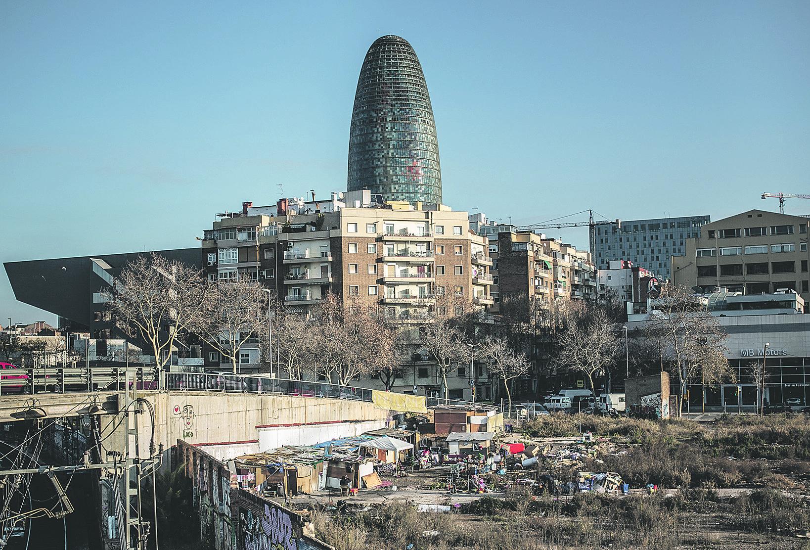 Barcelona, ciutat de contrastos entre rics i pobres.