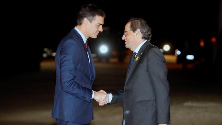 Pedro Sánchez amb Quim Torra