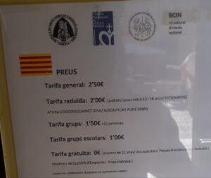 El plafón de la Basílica de Santa Maria de Castelló d'Empúries con