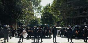 Agents policials a la sede de la CUP el 20 de setembre del 2017