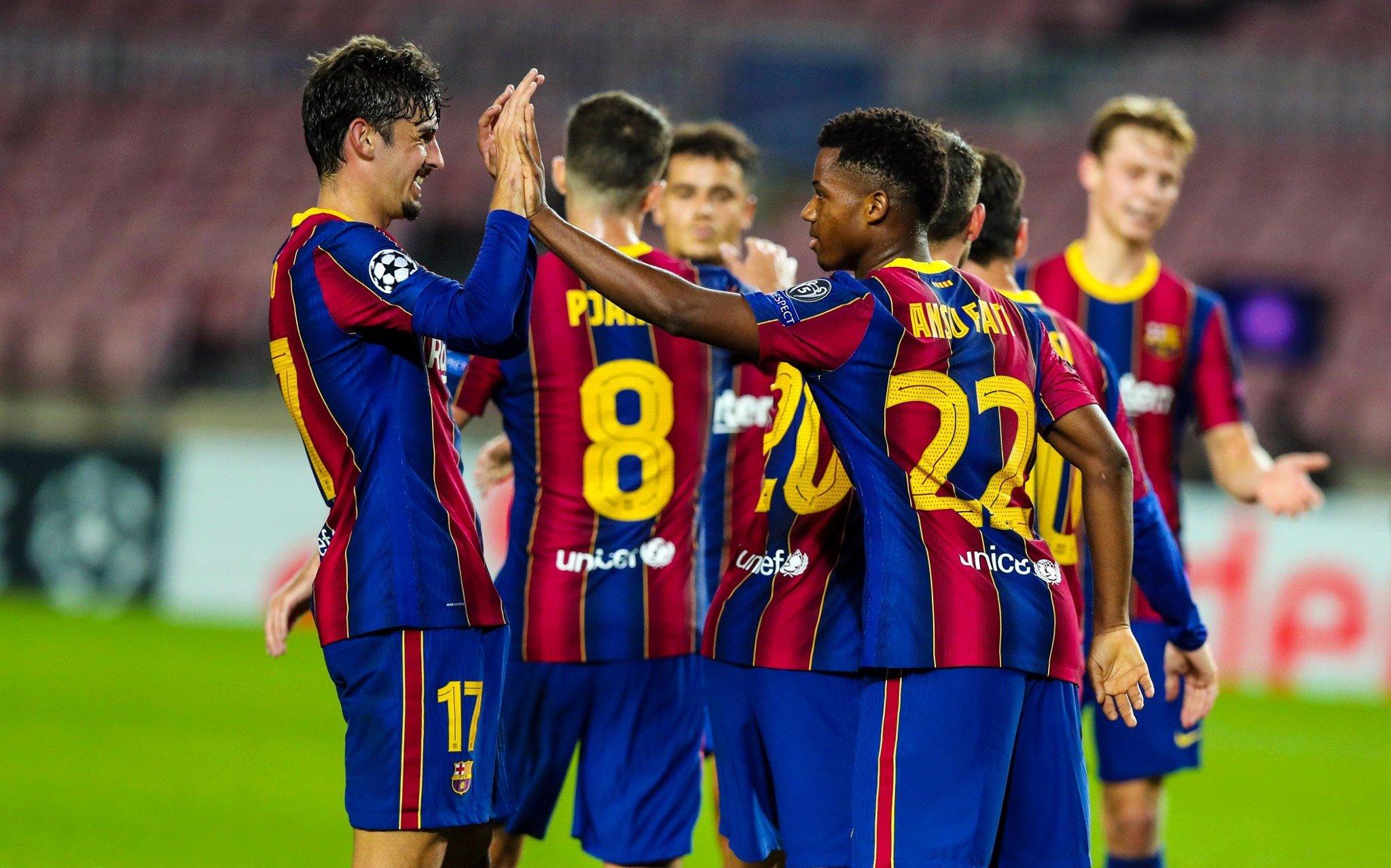 Ansu Fati, celebrant un gol