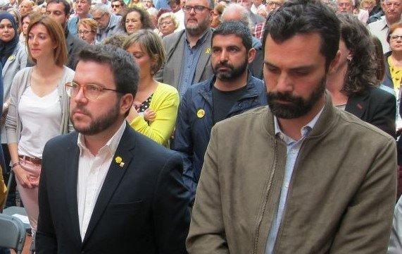 Pere Aragonès y Roger Torrent