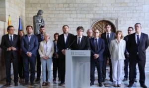 El gobierno de Carles Puigdemont