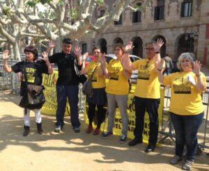 Representants de l'assemblea de familiars dels condemnats pel Parlament