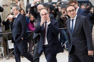 Los políticos catalanes antes del encarcelamiento