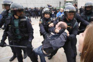 Acción policial el 1-O