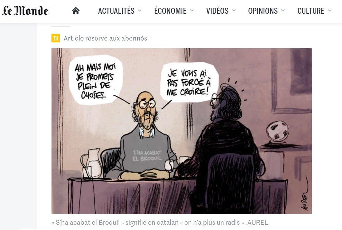 Acudit publicat en 'Le Monde' amb Jaume Roures de protagonista