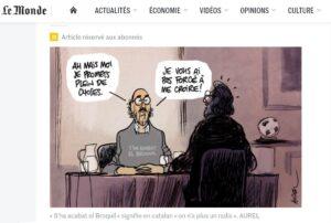 Acudit d'Aurel publicat a Le Monde amb Jaume Roures de protagonista