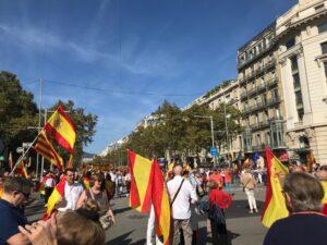 Manifestación de Sociedad Civil Catalana