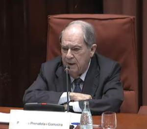 Lluís Prenafeta a la comissió Pujol