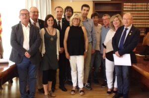 La nueva alcaldesa de Begur. Maite Selva, con el conjunto de concejales