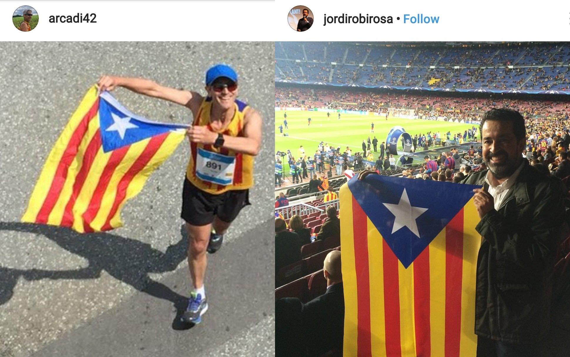 Imatges de l'Instagram dels periodistes de TV3 Arcadi Alibés i Jordi
