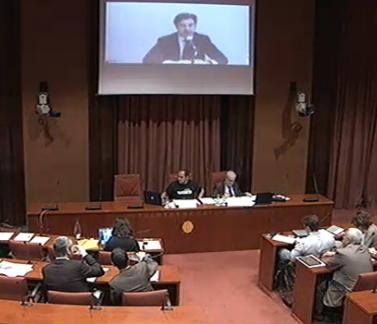 El conseller delegat d'AndBank Andorra, Rafael Gascó, a la comissió Pujol