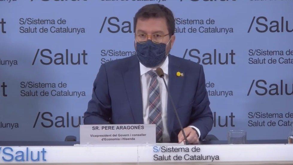 Pere Aragonès, en una comparecencia, este viernes