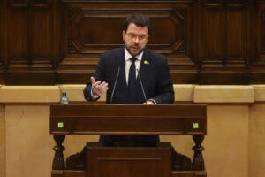 El vicepresident i aspirant d'ERC a la presidència, Pere Aragonès