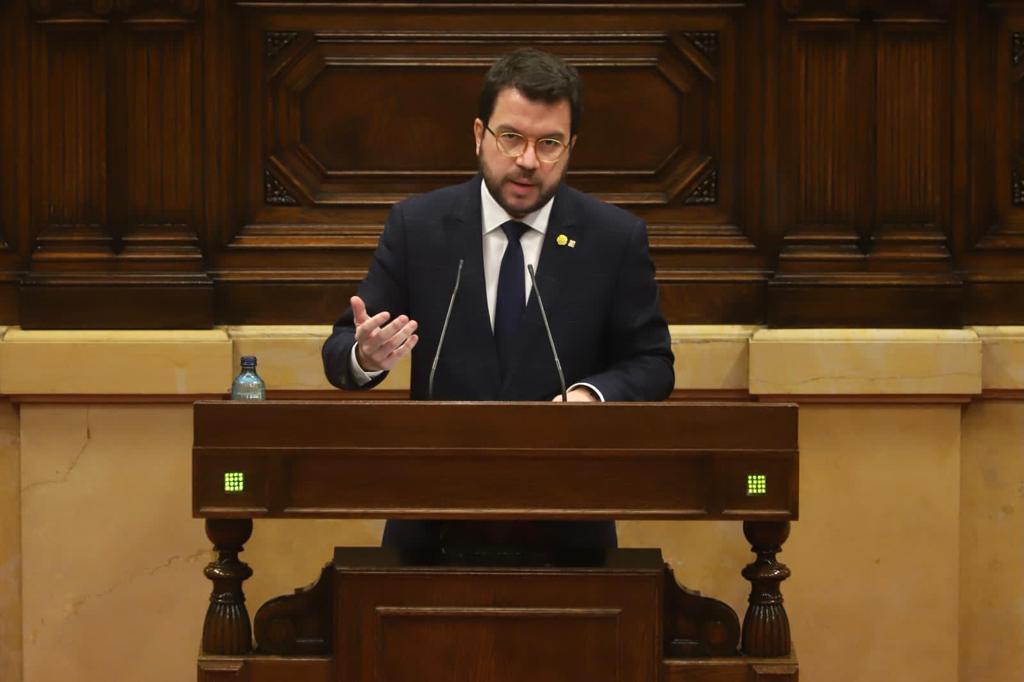 El vicepresidente y aspirante a la presidencia, Pere Aragonés