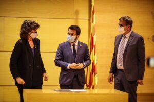 El vicepresident de la Generalitat i dirigent d'ERC, Pere...