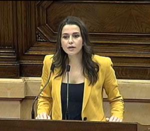 Inés Arrimadas, cap de l'oposició al Parlament