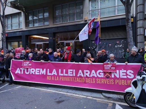 Manifestación contra la ley de contratos de servicios a las personas