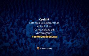 Missatge sobre el coronavirus que ha penjat el Barça a Twitter