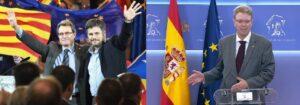 Albert Batet amb Artur Mas, i Ferran Bel