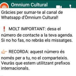 Missatge de benvinguda al xat d'Òminum Cultural
