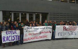 Concetració a Manresa en suport a un jove encausat contra el racisme de PxC