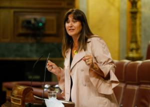 Laura Borràs, interviniendo este miércoles en el Congreso