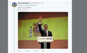 El president del govern espanyol, Pedro Sánchez, en un acte públic