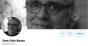 Foto de Joan Lluís Bozzo al seu perfil de twitter