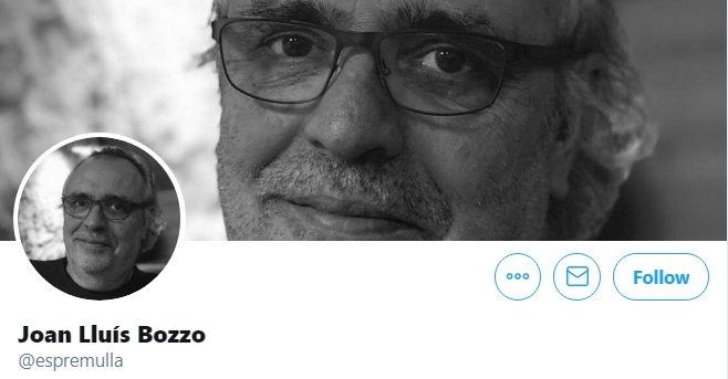 Foto de Joan Lluís Bozzo en su perfil de twitter