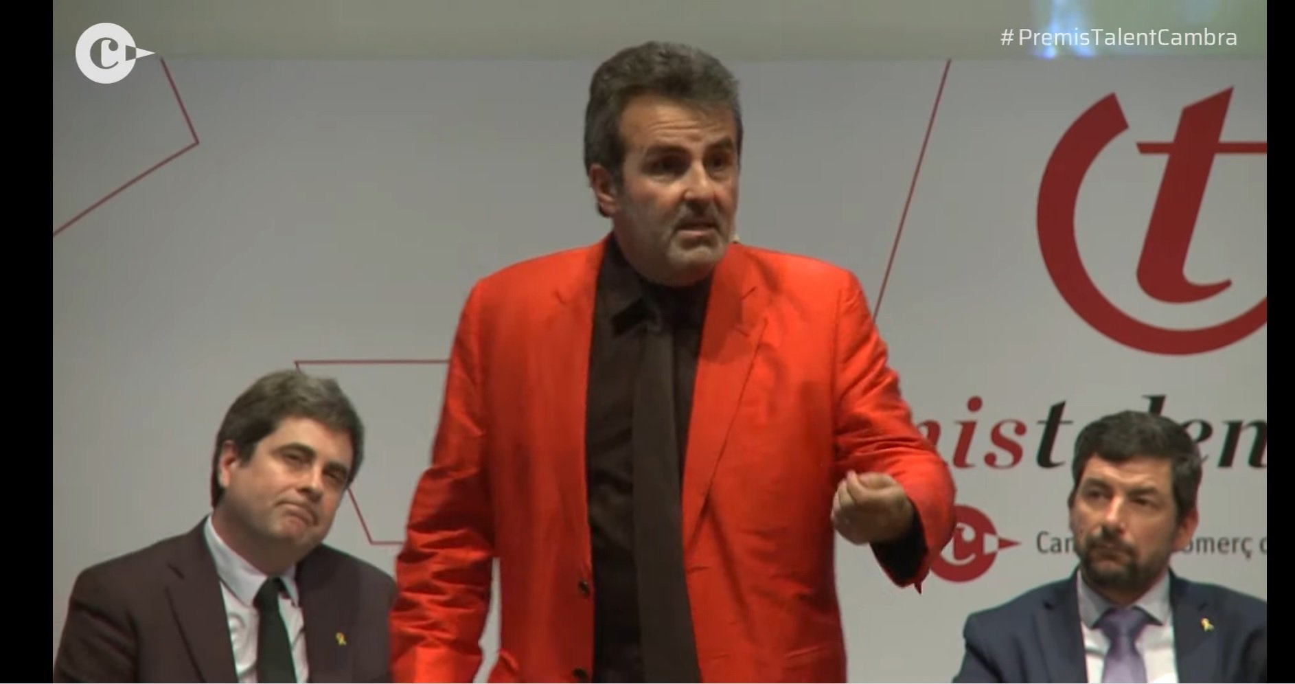 Bru Recolons, Xavier Sala i Martín y Joan Canadell, en la presentación de los premios 'Talent Cambra'