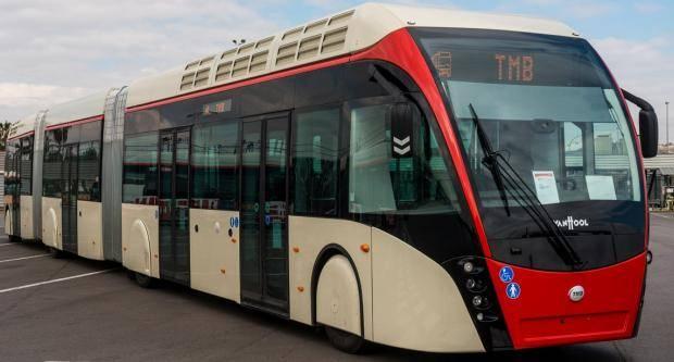 Un dels nous autobusos de TMB