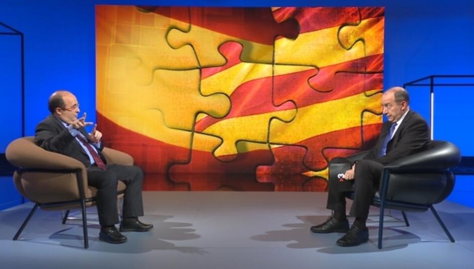 Miquel Iceta, entrevistat per Vicent Sanchis, aquest diumenge 10 d'ago