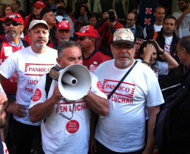 Treballadors de Panrico i Coca-Cola, entre d'altres, aquest dimarts a l'Audiència