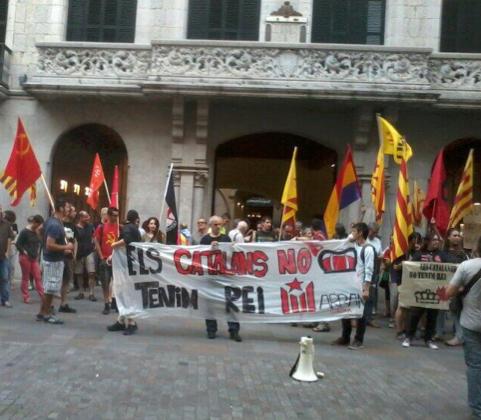 Protestes a Girona per la visita del Rei
