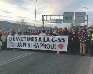 Protesta a la C-55