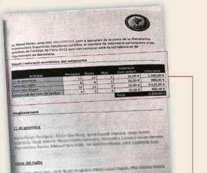 Document publicat pel diari 'ABC'