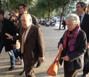 Entrada a los juzgados del matrimonio Pujol Ferrusola