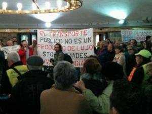 Acció d'Stop Pujades a Plaça Catalunya